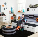 Skater Children beds / A Beautiful Universe for Your Childrens Bedroom. Children Furniture e.g. with Bunk bed, Mid high bed, Half high bed, High bed, Conopy bed and Sofabed made in the Highest Quality from Hoppekids.