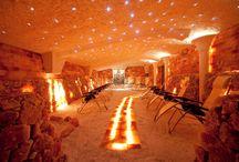 Solana Wellness  &  SPA / groty solne. sauny solne, aranżacje solne salt caves, salt saunas, interior decor