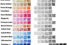 **Color chart -  gradation tone