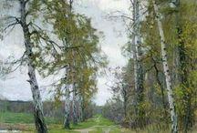 Landskaps maleri