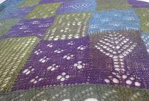 Knitting / Moje projekty na drutach:  knitting, lace, entrelac, shawl, PDF