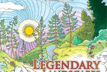 Legendary Adult Colouring Books / Legendary Landscapes: Coloring Book Journey Legendary Worlds: Adult Coloring Books