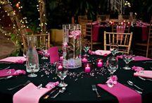 Hochzeit Pink Schwarz