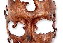 maschere di legno