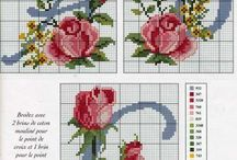 Alphabet Cross Stitch and Embroidery / These charts can be used for cross stitch, knitting, needlepoint or anything that requires a charted design. / by Bobka Baby