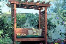 Garden Arbor / Arbour with seat