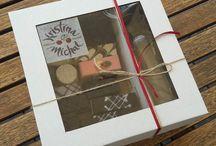 Papierové krabice na svadobné koláče