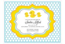 Rubber Ducky You're the One! Baby Shower / Rubber Ducky baby shower ideas. Invitations, decorations, food and games.