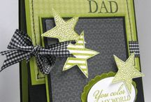 Cardmaking-Dad's Day / Free instructions to stunning handmade Father's Day cards.