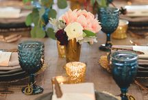 colorful water goblets