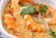 Νουντλς με γαρίδες / Κινέζικα noodles με γαρίδες