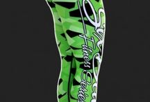 Camo Green - legginsy Six Deuce