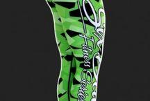 Camo Green - legginsy Six Deuce
