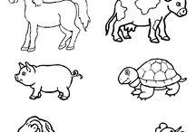 MŠ - pracovní listy - zvířata / pracovní listy, výrobky apod. inspirace do MŠ
