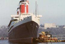 Tugboats and ships