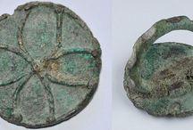 Amlash bronze rings / Amlash bronze ring - Luristan bronze ring - Bactrian bronze ring - Persian bronze ring - Geometric