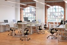 Sit-Stand desks / HiRise | Electrically adjustable desks to work the way you want to