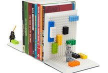 Build on Brick Bookends by ThinkGeek