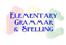Elementary Grammar and Spelling / spelling for kids, grammar for kids, elementary spelling