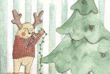 Illustrations by Po / Милые и трогательные иллюстрации. Приключения оленя По