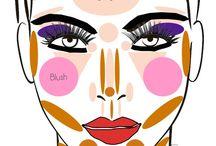 Makeup class / Схемы, наглядные пособия