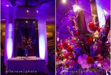 Red and purple theme wedding
