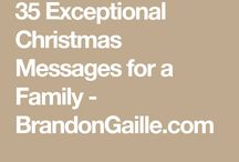 Family Christmas messages