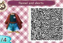 ACNL QR: Clothes/Hair designs