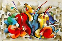 Cello in Color / Muziekinstrumenten in glas in felle kleuren