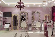 salão de beleza decoração e etc