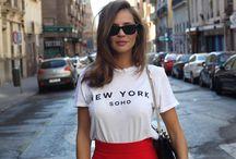 Look falda roja