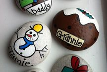 Rock painting christmas