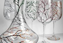painted glassware / by Joyce Martin