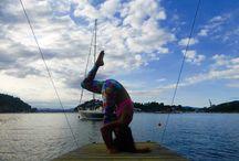 Yoga postures!
