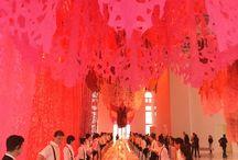 Cena de gala / FAENA ART CENTER, cena de lujo. Servicio de lujo de Special EVENT. 100 invitados, 50 mozos. Obra de arte de Manuel Ameztoy