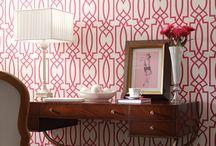 Wallpapered Powder Rooms