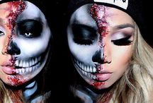 Skull/grim reaper make up