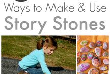 Story Stones / Story stone inspiration for schools and home ed, perfect for telling stories with added imagination.