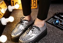 Womens Platform Shoes / Fashion leather flatform shoes for women, you will feel comfortable and stylish in these platform shoes.