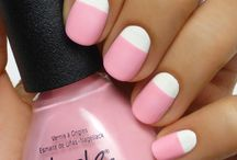 Pink&white nails