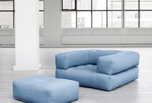 Cube futonbäddfåtölj / Cube futon bedchair by Ole Karup