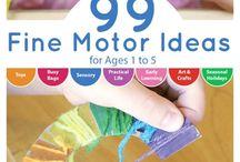 Tactile Sensory Fine Motor / Tactile and fine motor activities, sensory bins