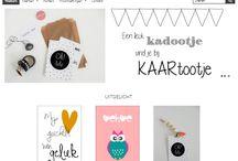 Website / Webwinkel met zelfontworpen kaarten en posters en zelfgemaakte woonkettingen voor in je interieur.