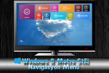 Windows 8 Metro Stil Navigasyon Menü