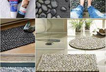 Como hacer tapetes de piedra - How to make rugs stone