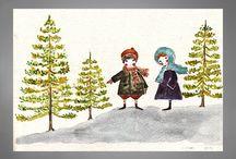 ilustraciones de niños / Designs by Clau Vidal