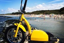 Summer / Scooter and sea