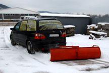"""Autopluh / Zariadenie na odhrn snehu, pripevníte na """"guľu"""" za auto a odhrabávate :-)"""