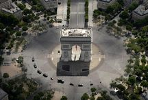 Paris from the sky on Bastille day