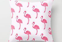 Flamingos on the brain! / Flamingo patterned cushion